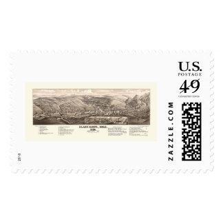 Black Hawk, CO Panoramic Map - 1882 Stamp