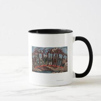 Black Hawk, Colorado - Large Letter Scenes Mug