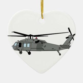 Black Hawk Helicopter Ceramic Ornament