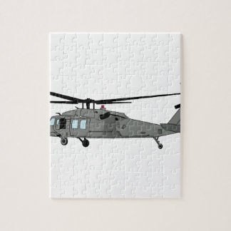 Black Hawk Helicopter Jigsaw Puzzle
