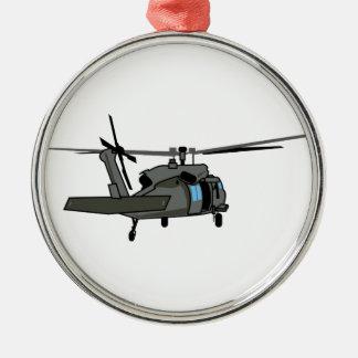 Black Hawk Helicopter Metal Ornament