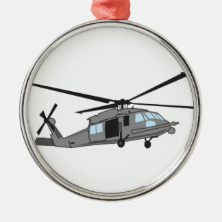 Black Hawk Helicopter Metal Ornament