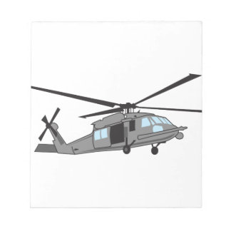 Black Hawk Helicopter Note Pad