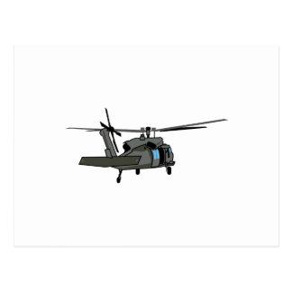 Black Hawk Helicopter Postcard