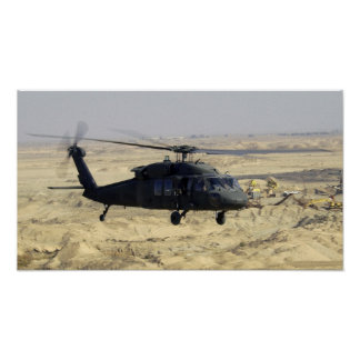 Black hawk Helicopter Poster
