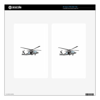 Black Hawk Helicopter Skin For Kindle Fire