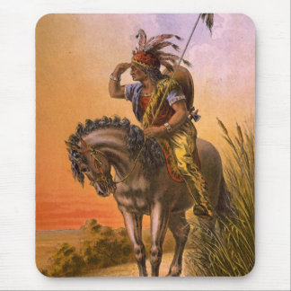 Black Hawk Native American Indian Mouse Pad
