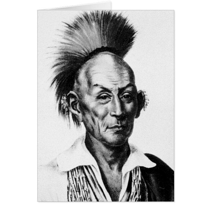 Black Hawk ~ Sac Sauk Indian Chief Card