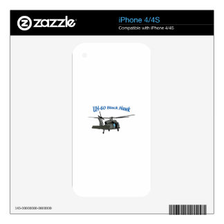 Black Hawk Uh Sixty Decal For iPhone 4S