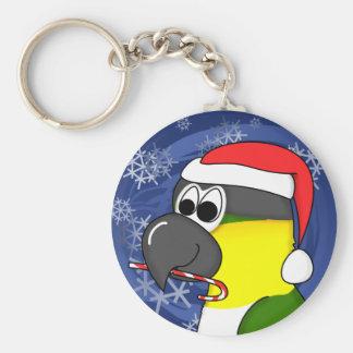 Black Headed Caique Christmas Keychain