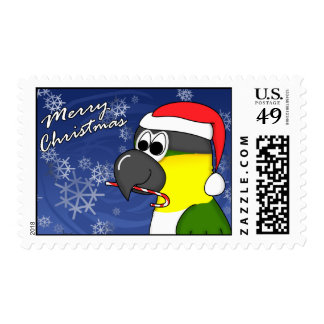Black Headed Caique Christmas Postage Stamps