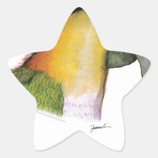 black headed caique, tony fernandes star sticker