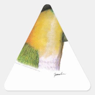 black headed caique, tony fernandes triangle sticker