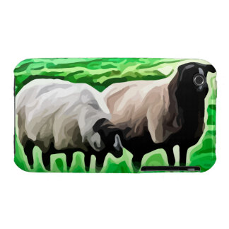 black headed sheep grazing iPhone 3 cases