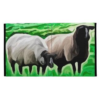 black headed sheep grazing iPad folio cases
