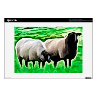 black headed sheep grazing laptop skin
