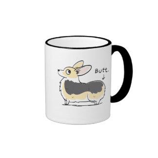 Black-headed Tri Pembroke Corgi Butt Mug