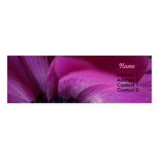 Black Heart 2 - Anemone Floral Photography - Mini Business Card