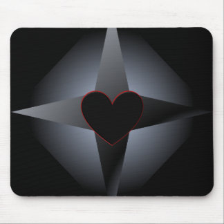Black Heart and Cross Mousepad