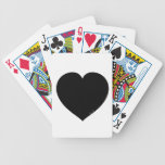 Black Heart Bicycle Poker Cards