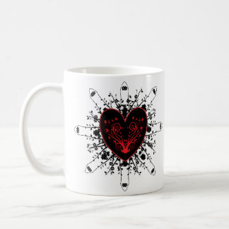 Black Heart by Allita Coffee Mug