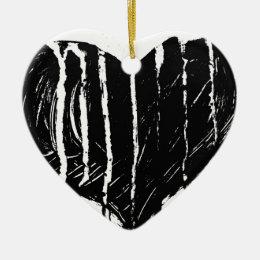 Black Heart Ceramic Ornament