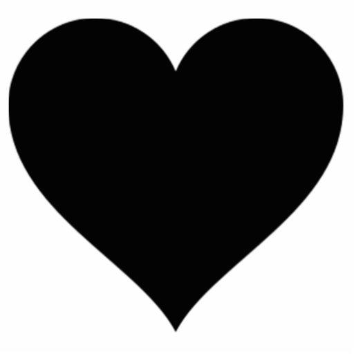 Black Heart Cut Out Zazzle