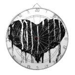Black Heart Dart Board