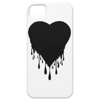 Black Heart Dripping paint iPhone SE/5/5s Case