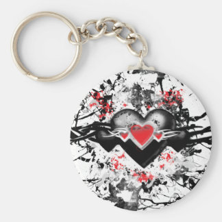 Black Heart Keychain