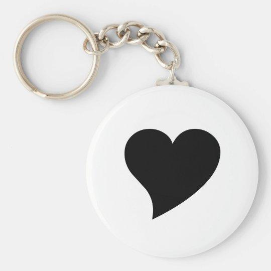 Black Heart Keychain