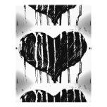 Black Heart Letterhead Template
