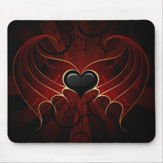 Black Heart Mouse Pad