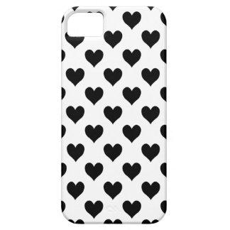 Black Heart Pattern iPhone SE/5/5s Case