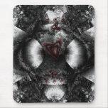 Black Heart Romance Mousepad