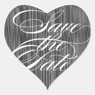 Black Heart  |  Save the Date Envelope Seal Heart Sticker