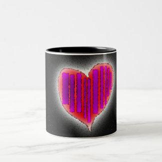 black heart Two-Tone coffee mug