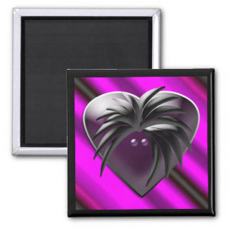 Black Heart w/Rocker Magnet