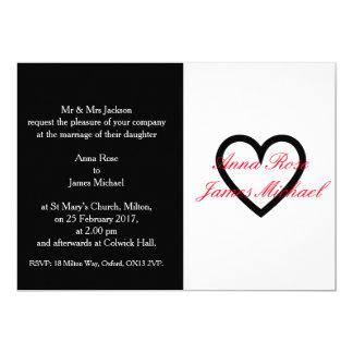Black Heart Wedding Invitation