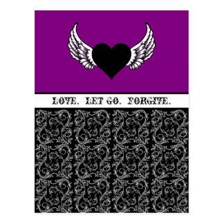 Black Heart, White Wings Custom Postcard