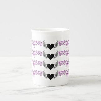 Black Heart, White Wings Tea Cup