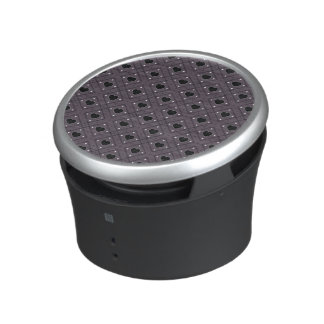 Black Hearts And Dots Plaid Pattern Speaker