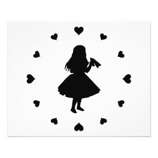 Black Hearts Around Alice Drinks Flyer