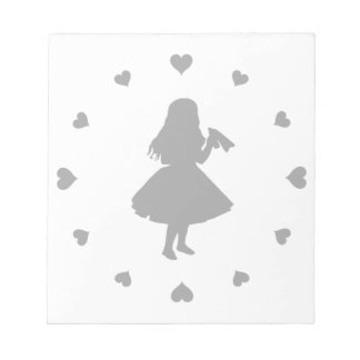 Black Hearts Around Alice Drinks Notepad