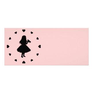 Black Hearts Around Alice Drinks Rack Card