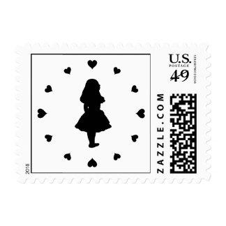 Black Hearts Around Alice Postage