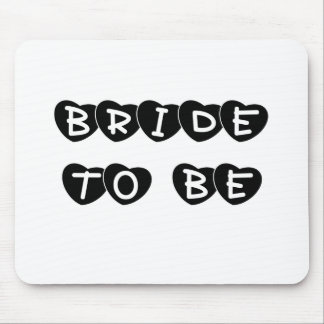 Black Hearts Bride to Be Mouse Pad