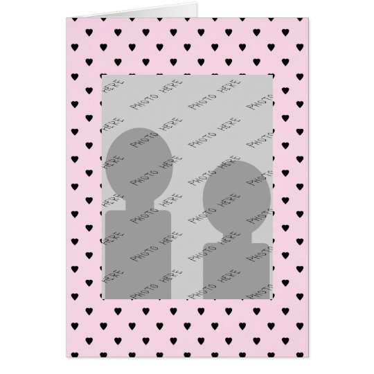 Black Hearts on Pretty Pink. Card