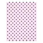 Black Hearts on Pretty Pink. Personalized Letterhead