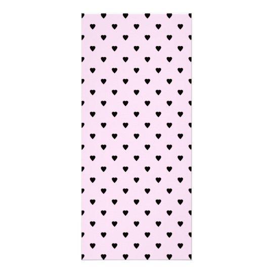 Black Hearts on Pretty Pink. Rack Card